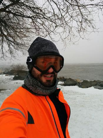 Selfie during a January winter storm