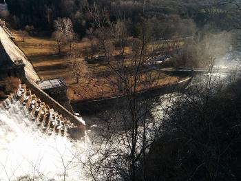 Croton Dam spillway from above