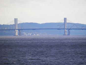 Tappan Zee Bridge (new and old) from Croton Point Park