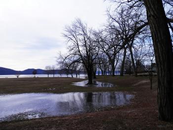 Flooding at Croton Point Park.