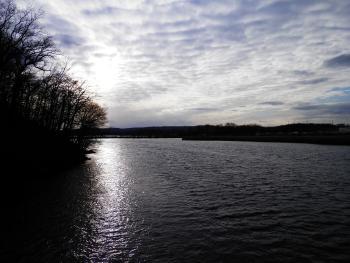Croton River as it meets the Hudson.