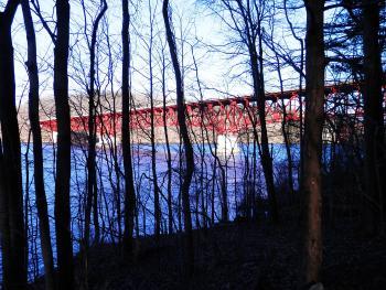 Taconic State Parkway bridge over New Croton Reservoir.