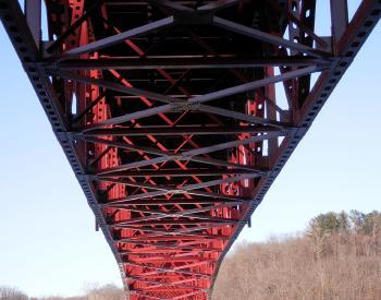 Underside of bridge over New Croton Reservoir.