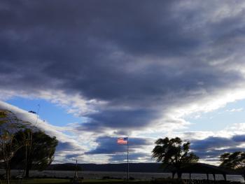 Storm threatening.