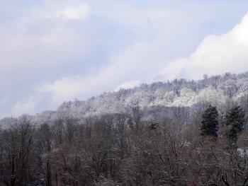 Elevation differences on clear display after  winter storm.