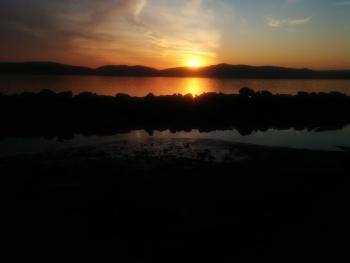 Hudson River sunset.