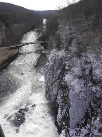 Croton Dam spillway into Croton River.