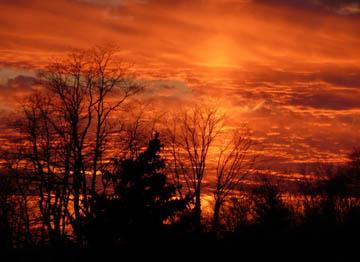 Sunset. © 2008 Peter Wetzel.