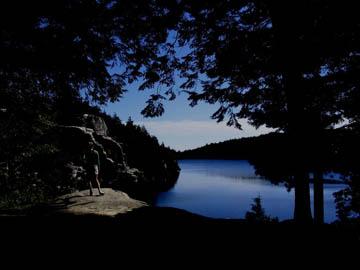 Lake Minnewaska (September 2004), decreased brightness and upped contrast. © 2013 Peter Wetzel.