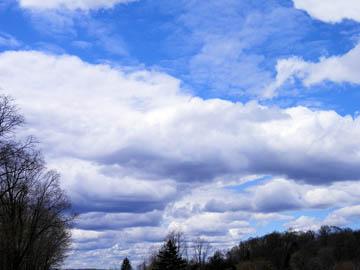 Blue sky clouds. © 2016 Peter Wetzel.